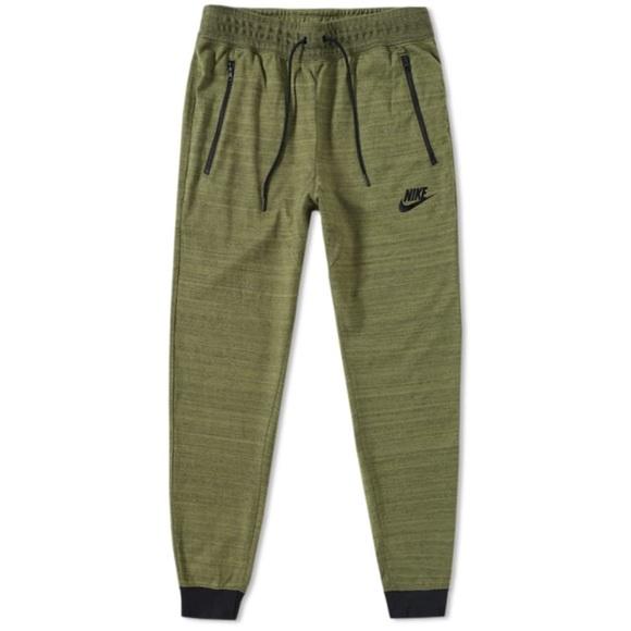 2aa38b632391 Mens Nike Advance Knit Joggers 837012-387 Green